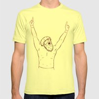 YES Mens Fitted Tee Lemon SMALL