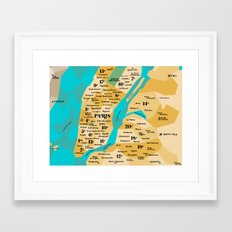 Paris Sur New York Framed Art Print