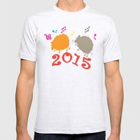 Dancing sheep 2015 year of the animal Mens Fitted Tee Ash Grey SMALL