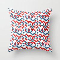 geometric number 5 Throw Pillow