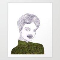 Epilation Mask Art Print