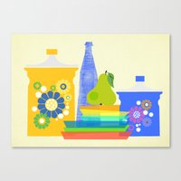 still life with pear Canvas Print