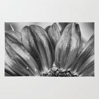 B&W Sunflower Rug