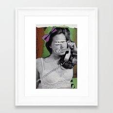 Occupie Framed Art Print