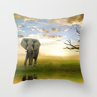 Run To Water Throw Pillow