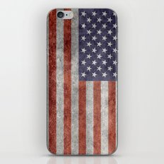National flag of the United States of America - Retro grunge version iPhone & iPod Skin