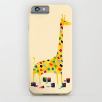 iPhone Cases featuring Paint by number giraffe by Budi Kwan
