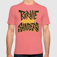 Bernie Sanders Mens Fitted Tee Pomegranate SMALL