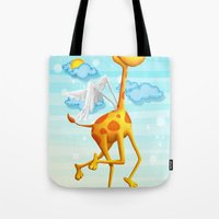 Fly Giraffe fly Tote Bag