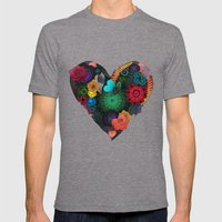 Gobblynne Heart Mens Fitted Tee Tri-Grey SMALL