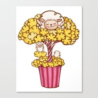 Popcorn Tree Canvas Print