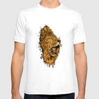 Golden Lion Mens Fitted Tee White SMALL