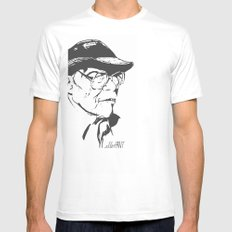 Old Swagger White Mens Fitted Tee SMALL