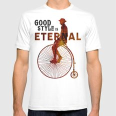 Good style is Eternal White Mens Fitted Tee SMALL