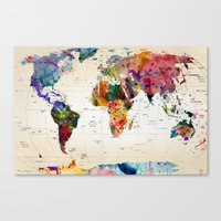 Canvas Prints featuring map by mark ashkenazi
