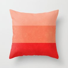 Red Grunge Stripes Throw Pillow