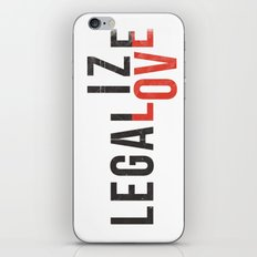 legalize love iPhone & iPod Skin