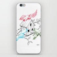 RGBirds iPhone & iPod Skin