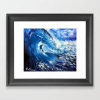 Painting - Mesmerizing Waves Series 1 Framed Art Print