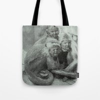 Monkey Children Tote Bag