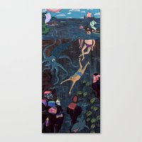 Swim Meet Canvas Print