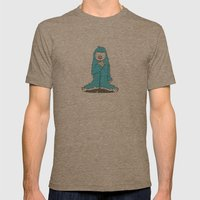Leon the friendly Yeti Mens Fitted Tee Tri-Coffee SMALL