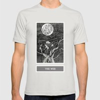 Shadow Season: The Web Mens Fitted Tee Silver SMALL