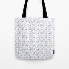 Stuga pattern, white Tote Bag