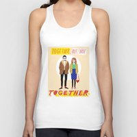 Together but not together Unisex Tank Top