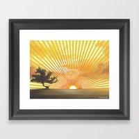 Marylin Sunset Framed Art Print