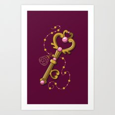 Chibiusa Time Key - Sailor Moon Art Print