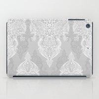Lace & Shadows 2 - Monochrome Moroccan doodle iPad Case