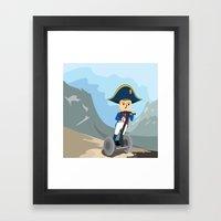 Napoleon Segways the Alps Framed Art Print