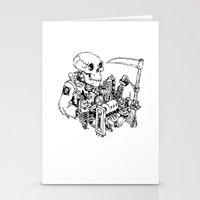 Grim Reaper - Power Scythe Stationery Cards