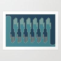 Hands In Zip Mode Art Print