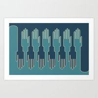 Hands In Zip Mode Art Print