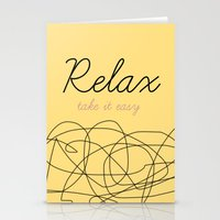 Relax Take it easy Stationery Cards