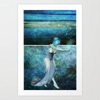 Queen Of The Sea... Dipt… Art Print