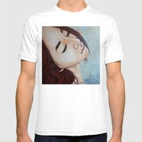 Goodbye(painting) Mens Fitted Tee White SMALL
