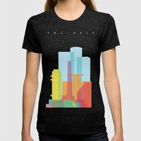 Shapes of Tel Aviv Womens Fitted Tee Tri-Black SMALL