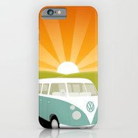 Retro Volkswagen Bus - Sunset iPhone 6 Slim Case