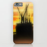 Silhouette of a Ship iPhone 6 Slim Case