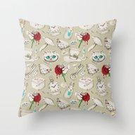 Wear To Wonderland - Neu… Throw Pillow