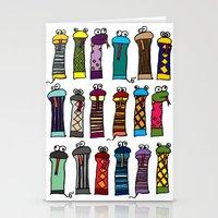 Slithery Socks Stationery Cards