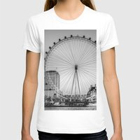 London Eye, London Womens Fitted Tee White SMALL