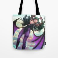 Tote Bag featuring Morrigan by Artgerm™