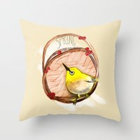 Spring birdy / Nr. 1 Throw Pillow