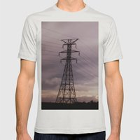 Signal Mens Fitted Tee Silver SMALL