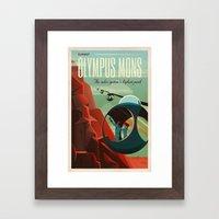 THE VOLCANO OF MARS - Olympus Mons | Space | X | Retro | Vintage | Futurism | Sci-Fi Framed Art Print
