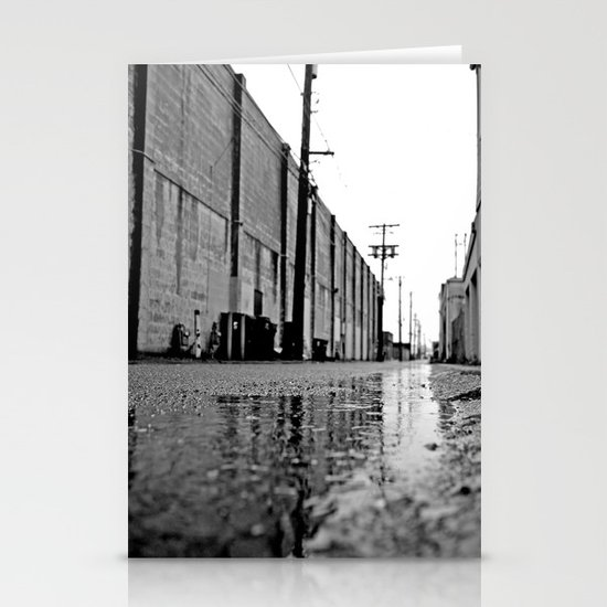 Gritty urban alley Stationery Card